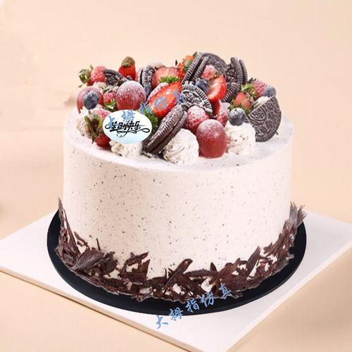 网红新款欧式水果蛋糕模型 祝寿老奶奶卡通生日蛋糕模型 仿真模型