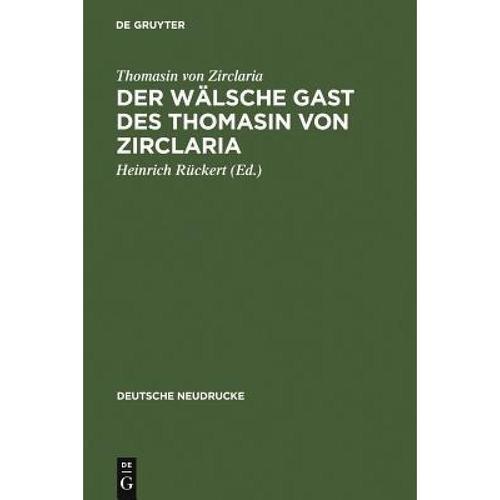 预订 der walsche gast des thomasin von zirclaria