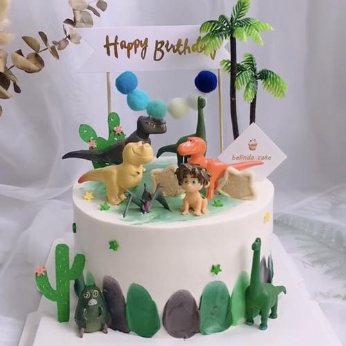 恐龙蛋糕装饰摆件12款恐龙当家小男孩烘焙装饰儿童生日蛋糕装饰