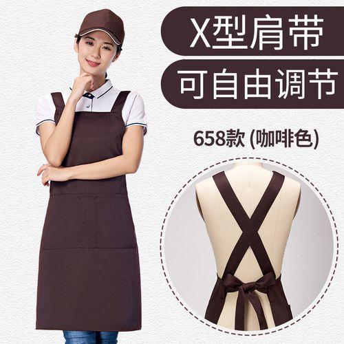 加肥加大码围裙大码定制工作服防滑交叉肩带围腰加大200斤可穿印logo