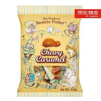 波特小姐 彼得兔台湾进口零食糖果焦香牛奶味太妃糖休闲零食硬糖结婚