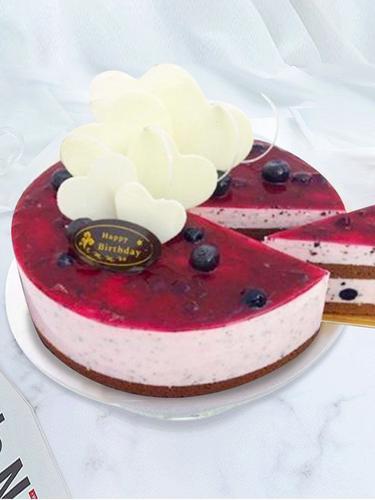 市蓝莓慕斯蛋糕2小时送达全国同城配送新鲜水果