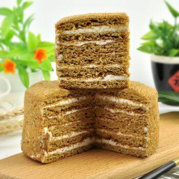 提拉米苏俄罗斯千层蜂蜜糕点心小蛋糕整箱混合装400g*