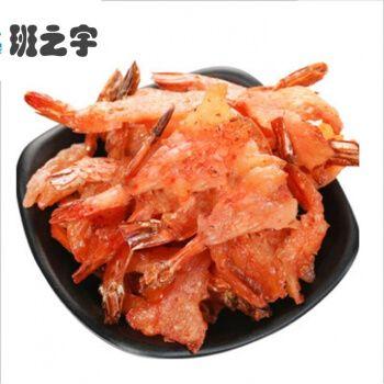 焙烤凤尾虾松软烤虾干丹东特产即食海虾干罐装零食香辣虾 150克原味