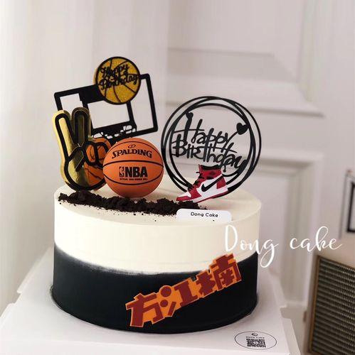 篮球鞋蛋糕装饰 灌篮高手男孩男生篮球主题烘焙蛋糕
