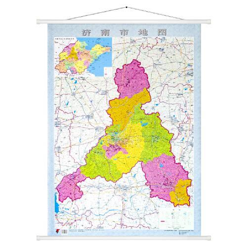 1*0.8米 双面覆膜防水 济南市交通地图 全域地图 山东省地图出版社