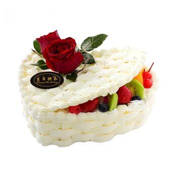 节预定蛋糕 鲜花送女友生日蛋糕心形蛋糕妈妈上海东莞广州深圳