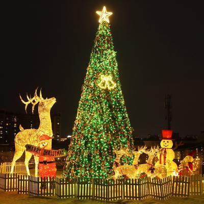 大型圣诞树套餐3/4/5/6/10米户外框架豪华发光广场酒店圣诞节装饰