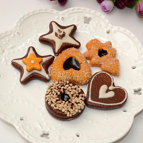 仿真食物食品巧克力曲奇饼干模型幼儿道具过家家玩具