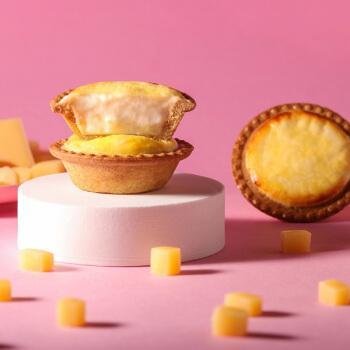 【零食优选】高登客冰烤流心芝士挞日本北海道糕点面包蛋糕早餐白桃味