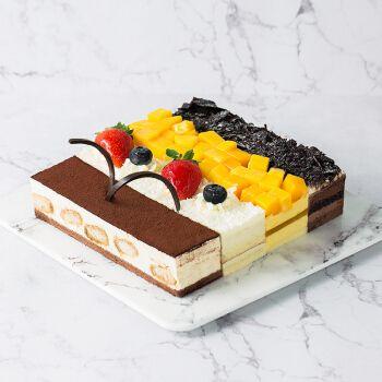 熊猫不走蛋糕四大天王黑森林芒果榴莲巧克力蛋糕奶油慕斯生日蛋糕