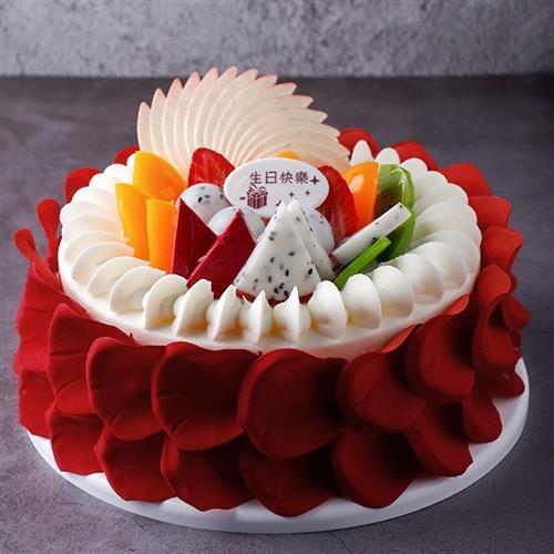 天使生日蛋糕16寸逼真8寸蛋糕样品e模型模具仿真10寸塑胶.摆放