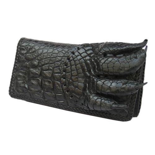索特西【 高档男士钱包】色敞口高品质商务带鳄鱼爪厚