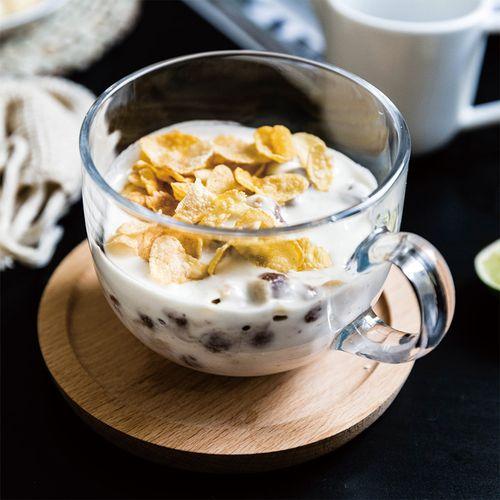 摩登主妇带把金边玻璃杯牛奶大容量早餐杯酸奶咖啡杯