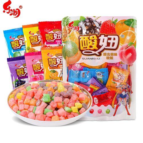酸妞综合果味软糖qq糖喜糖90后童年怀旧小零食小吃网