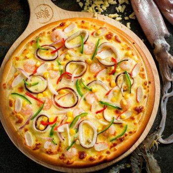 【专业烤箱版】7寸/210g海鲜披萨