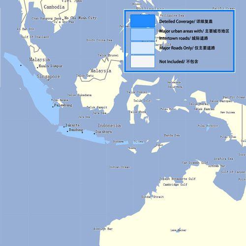 garmin佳明 印度尼西亚/印尼/indonesia 城市道路gps