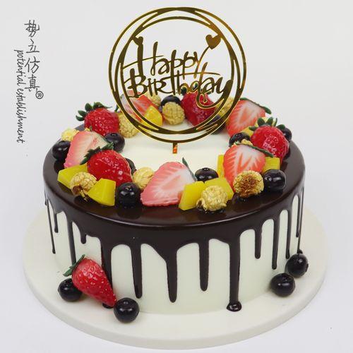水果蛋糕模型仿真2020爆款流行欧式爆米花生日假蛋糕