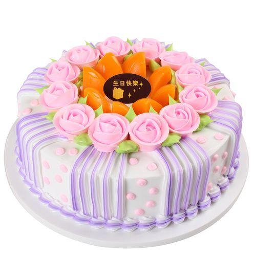 样品假蛋糕花卉奶油模型新款橱窗生日蛋糕摆放仿真