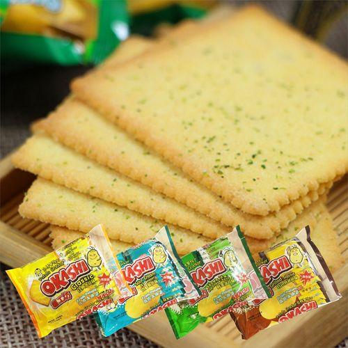 薯工坊okashi马铃薯薄脆土豆小饼干大蒜鱿鱼海苔咸味薯片零食包邮