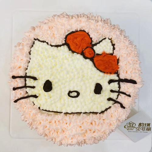 4寸卡通蛋糕-hollekitty
