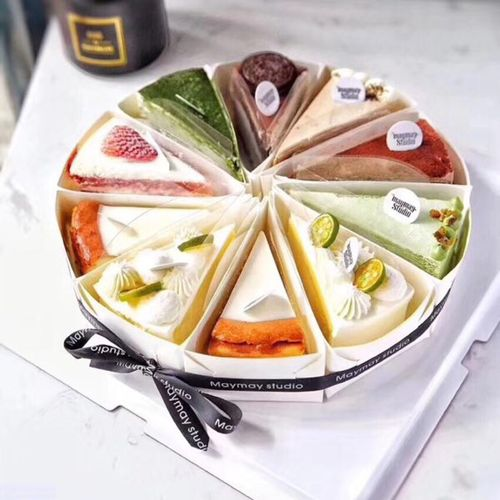 慕斯蛋糕底托三角切块蛋糕盒纸托千层蛋糕包装盒烘焙
