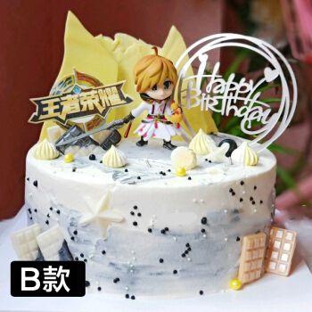 网红孙悟空猴子王者荣耀生日蛋糕儿童卡通男孩周岁蛋糕同城配送