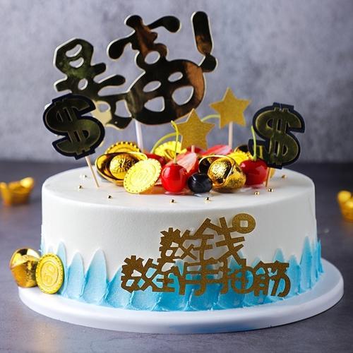 新款流行两层双层简约10寸6寸欧式水果仿真蛋糕模型