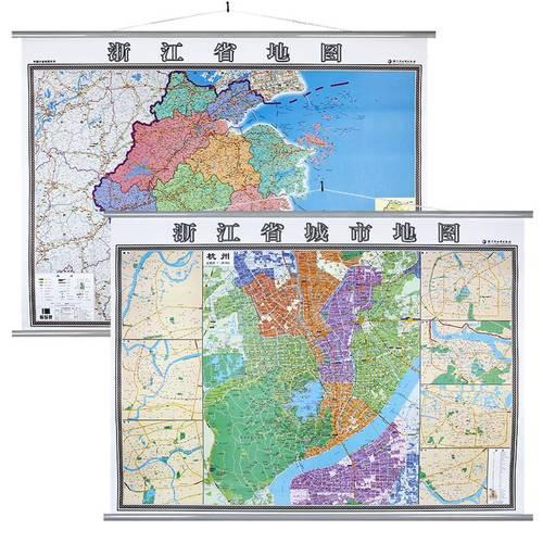 0m 附温州绍兴地图高清覆膜防水挂