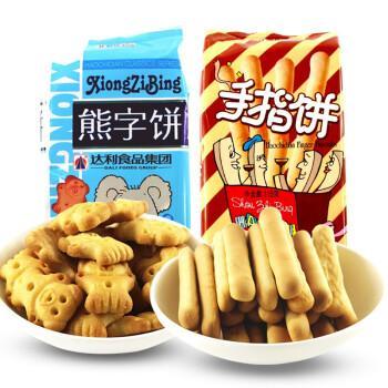 好吃点熊字饼手指饼115g/包饼干磨牙棒零食小熊饼干休闲零食营养早餐