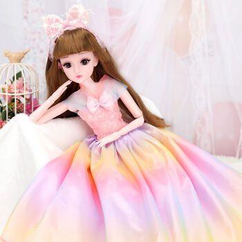 凡小熊 超大号60厘米黛蓝芭比娃娃小女孩公主玩具套装