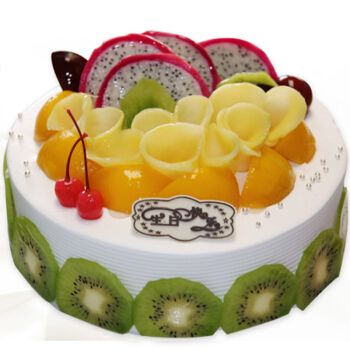 上海同城全国配送 卡通蛋糕店新鲜蛋糕 水果蛋糕款式二 12寸