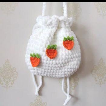 尊尚鸟小羊包纸杯蛋糕包手工diy材料包毛线编织自制束口包小花草莓