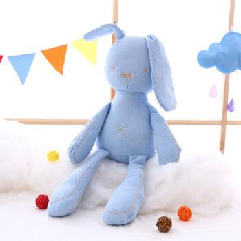 安抚兔子公仔 宝宝陪睡布娃娃布艺玩具不掉毛抱着睡觉玩偶毛绒玩具