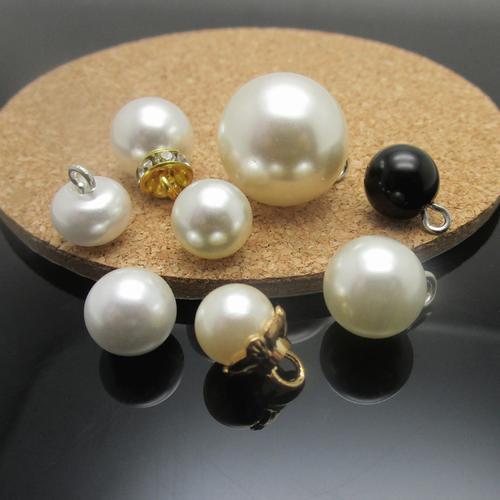 铜脚白色珍珠纽扣珍珠纽扣衬衫 扣子白色珍珠扣 珍珠