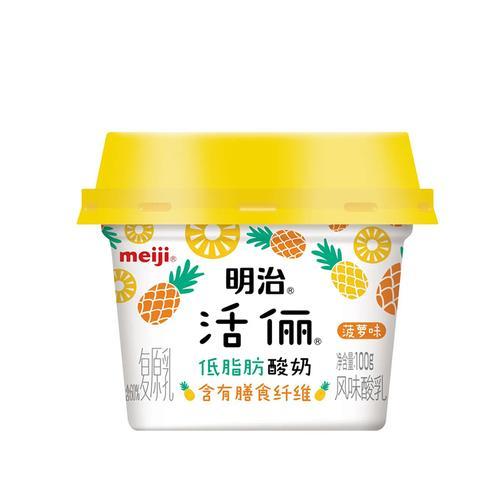 明治100g活俪低脂肪菠萝味酸奶