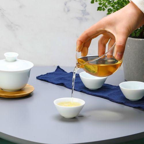 泡盖碗旅行套装客包陶瓷红茶功夫茶具单人杯三快杯便携式一壶简易