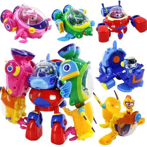 庄臣海豚帮帮号超能侠儿童玩具棒棒号合体车套装全套五合一变形舰