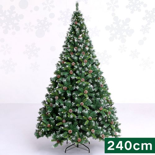 5米雪花圣诞树 1.2米1.8米豪华加密落雪小型裸树家用摆可开票