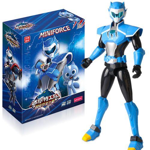 迷你特工队x恐龙力量大号声光玩偶机甲玩具儿童机器人