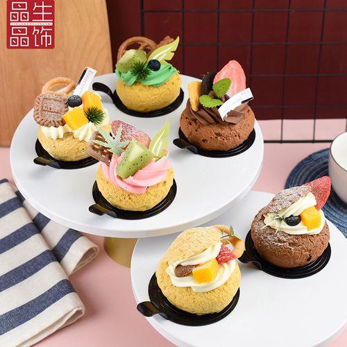 仿真奶油泡芙模型假水果蛋糕模型面包店甜品橱窗摆设