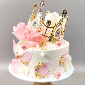 【品质上新】2020仿真生日蛋糕模型网红新款鲜花水果皇冠橱窗样品摆设