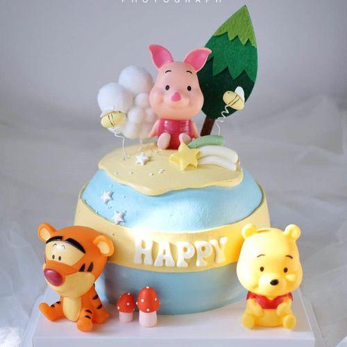 网红球形蛋糕模型流行卡通小猪kt可爱公主小萝莉粉色