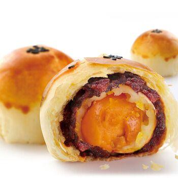 原味红豆味蛋黄酥饼 网红糕点点心雪媚娘麻薯夹心馅零食 豆沙味或紫薯