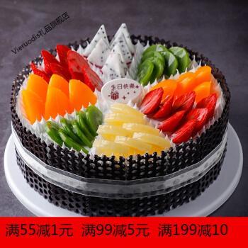 2021新款网红欧式水果生日假蛋糕塑胶橱窗样品可定制 红色 t248 12寸