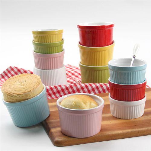 4寸小蛋糕模具单个 烘焙陶瓷蛋糕杯 家用烤箱微波炉用