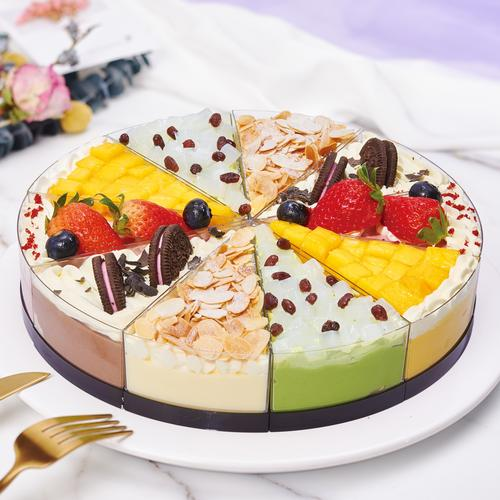 【十人共享】花田锦簇10拼慕斯蛋糕