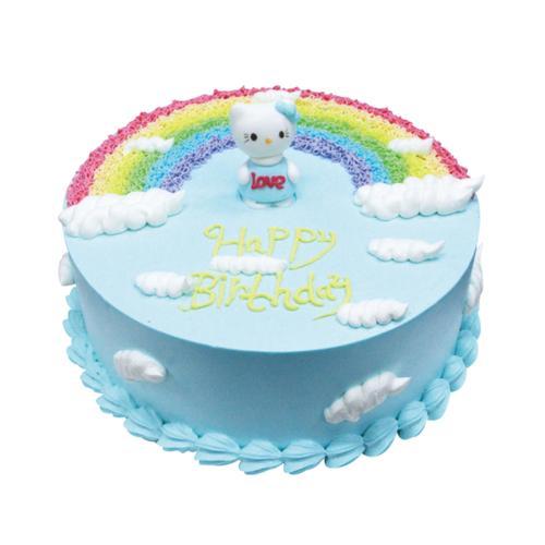 卡通蛋糕——彩虹蛋糕