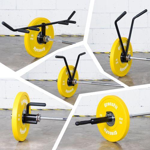 杠铃杆单人多功能划船硬拉爆发力核心力量训练杠铃炮架地雷架健身