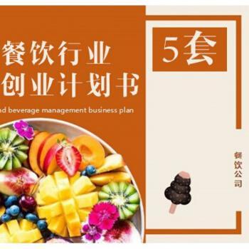 餐饮娱乐行业创业开店ppt 项目bp计划书市场研究竞争